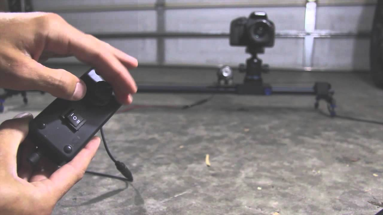 Meet the revolve automated motion motorized camera slider Motorized video slider