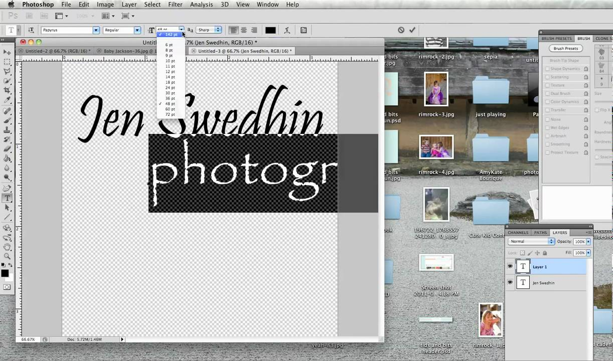 Creating A Watermark In Photoshop  A Quick Tutorial   Lensvidlensvid