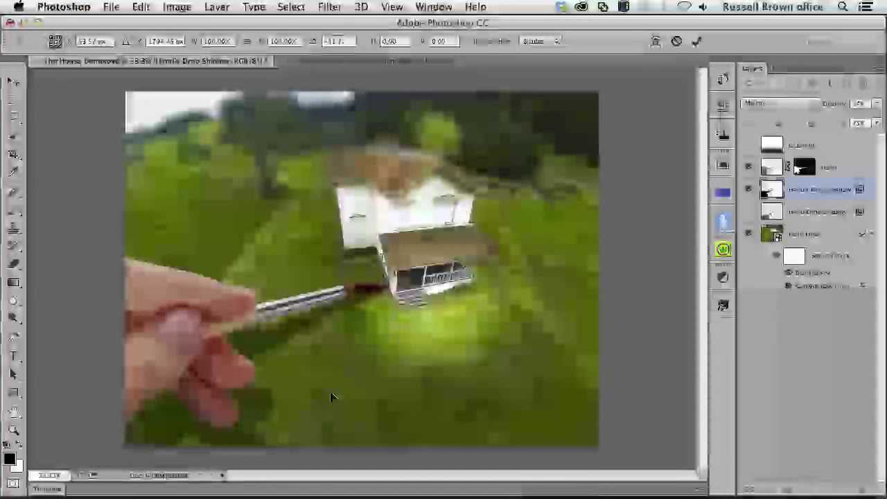 Adding a Tilt Shift Lens Blur to Aerial Photos Using Photoshop
