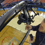 How the Pros Shoot Basketball with a Backboard Camera