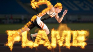 Flaming text and runners using Photoshop's Flame Filter