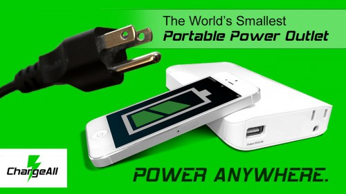 The World's Smallest Portable Power Outlet - ChargeAll