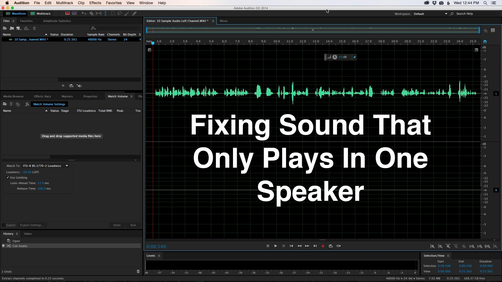 Fixing Sound That Only Plays In One Speaker/Side of a Headphone