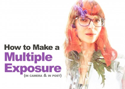 Multiple Exposures (In-camera or Photoshop) for Abstract & Artistic Portraits