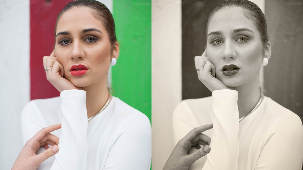 How to use photoshop to colorize a black and white photo lensvid how to create a black and white portrait in photoshop using adjustment layers baditri Choice Image