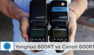 Yongnuo 600RT vs Canon 600RT and LED Video Light