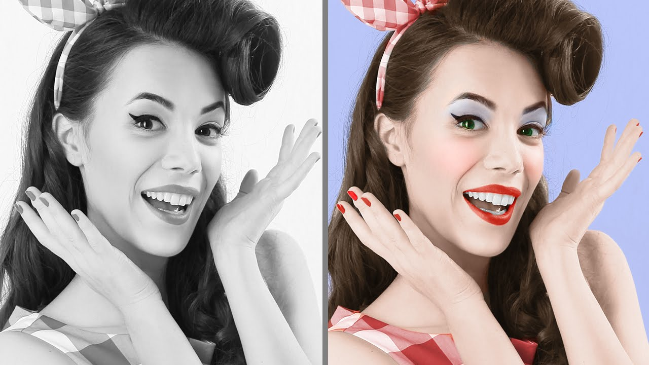 How to quickly smooth skin and remove blemishes scars using realistic skin smoothing using photoshop the best way to colorize black white photos in photoshop baditri Choice Image