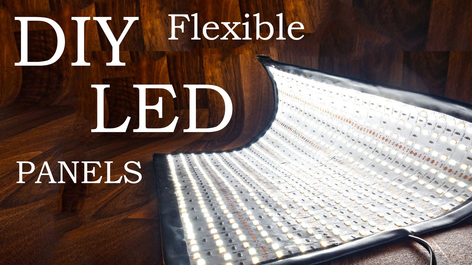 how to make a diy flexible led panel. Black Bedroom Furniture Sets. Home Design Ideas