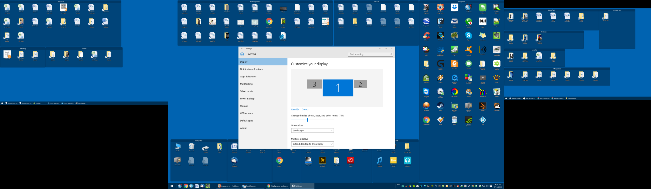how to change display scaling in windows 10