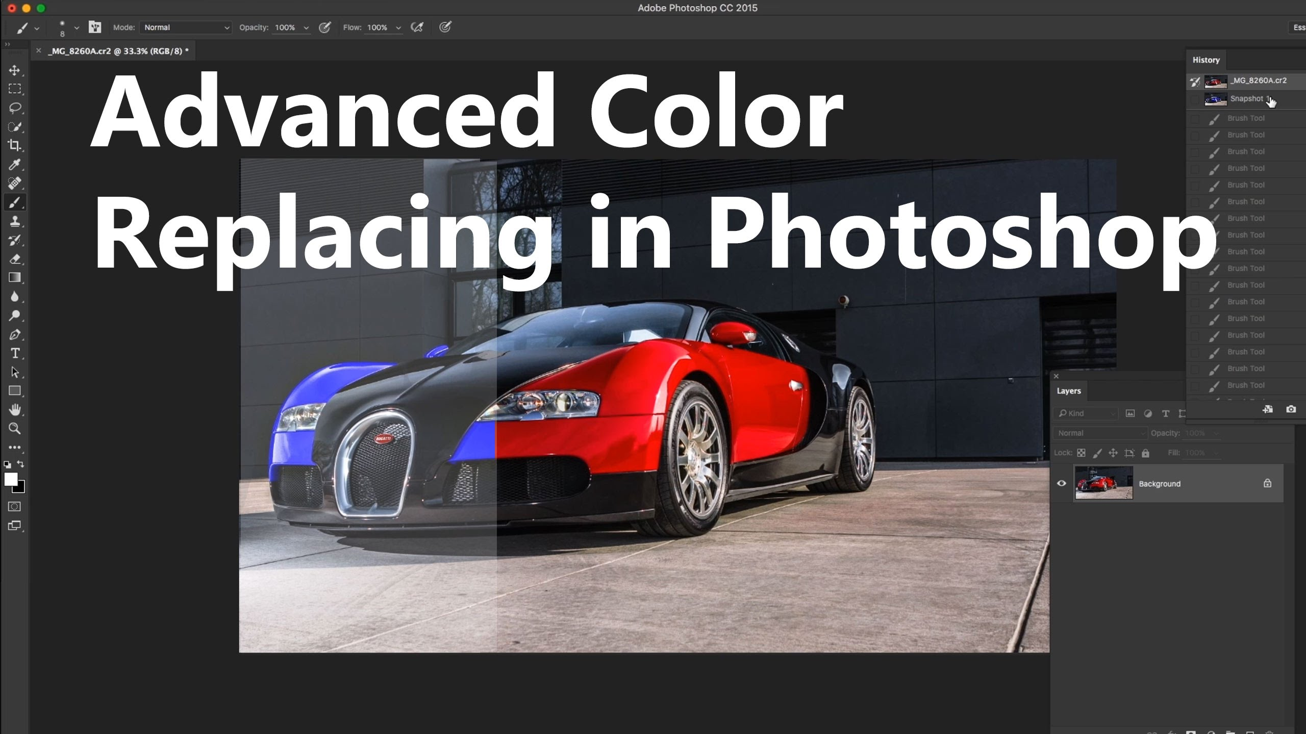 PS 6 ways to change an object color in