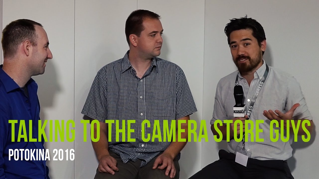 lensvid exclusive talking to the camera store guys in photokina