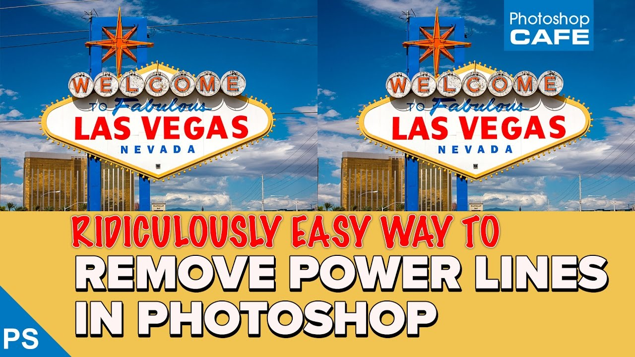 How to Quickly Remove Power Lines in Photoshop