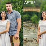 blurring background in photoshop