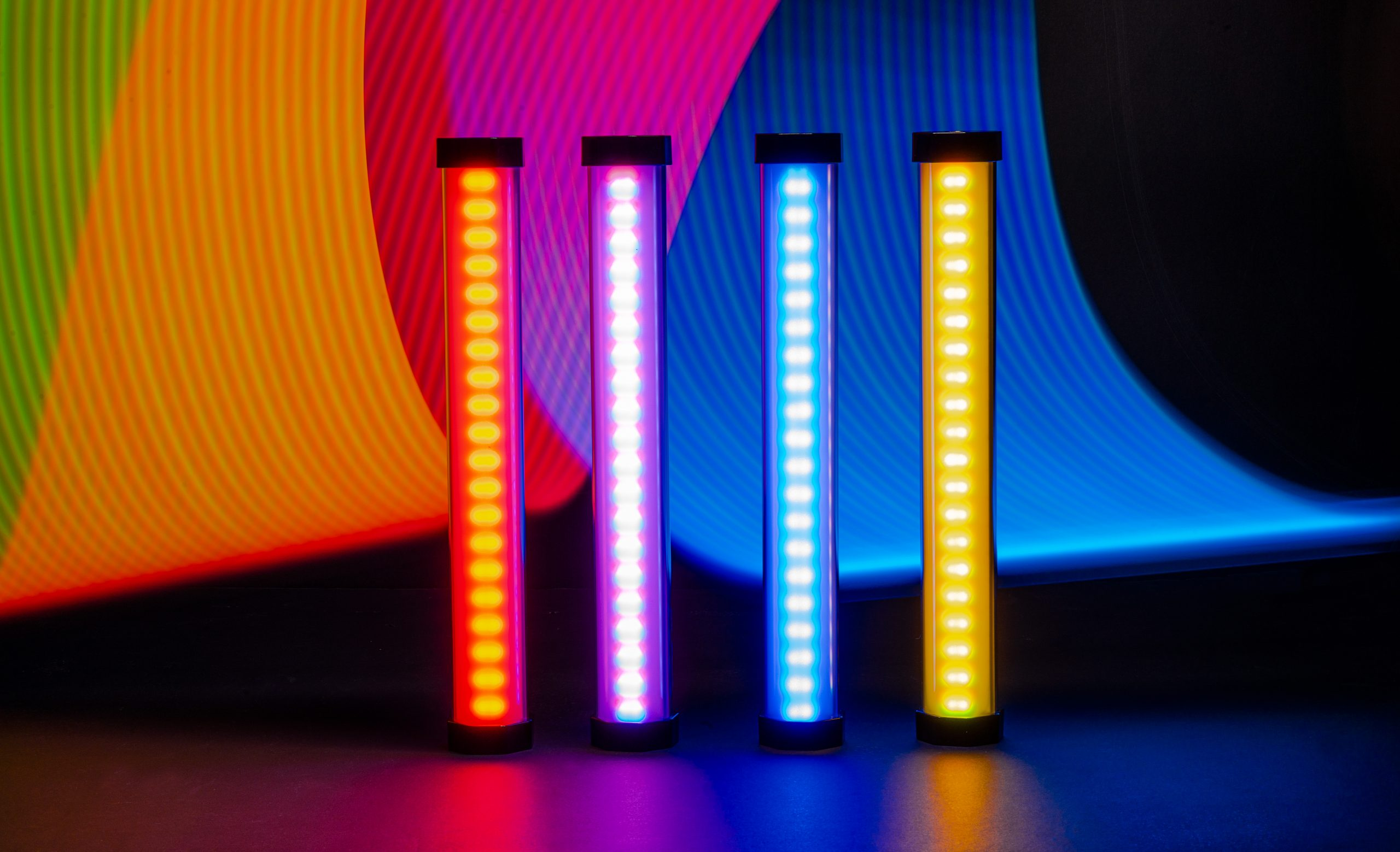 Creative light painting with tube lights
